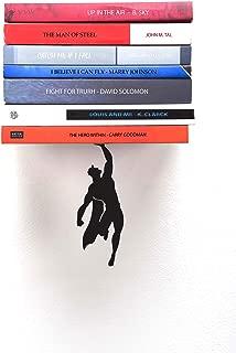 Artori Design Book Shelf   Black Metal Superhero Floating Bookshelf   Invisible Book Stack   Hidden Mount Shelf   Unique Book Shelves   Gifts for Geeks   Gifts for Book Lovers Supershelf