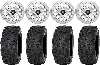 "Bundle - 9 Items: STI HD A1 Beadlock 15"" Wheel Machined 33"" Roctane XR Tires [4x156 Bolt Pattern 3/8x24 Lug Kit]"