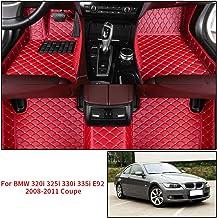 Alfombrillas Coche Personalizadas para B M W 320i 325i 330i 335i E92 2008-2011 Coupe 3D Protección Alfombras Antideslizante de Cuero Accesorios Coche Rojo 1 Juego