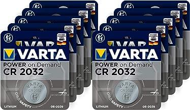 Varta Power on Demand CR2032 Lithium Knopfzellen 3V, 10er Pack - smart, flexibel, leistungsstark für den mobilen Endkonsumenten - z.B. für Smart Home Geräte, Autoschlüssel und weitere Anwendungen