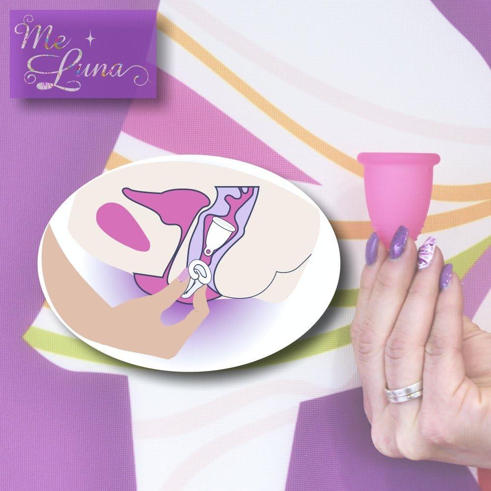 Me Luna Menstrual Taza Soft, Bola, color rosa, tamaño XL