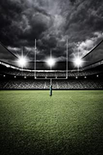 Football Field Goal Uprights Stadium Vintage Dramatic Enhanced Photo Cool Huge Large Giant Poster Art 36x54
