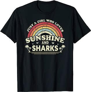 Shark Shirt. Just A Girl Who Loves Sunshine And Sharks T-Shirt