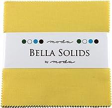 "Bella Solids 30's Yellow Charm Pack 42 Squares 5"" Moda Fabrics 9900PP 23S"