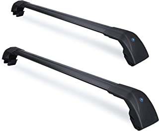 WONDER TECH Car Top Roof Rack Cross Bars fit for Kia NIRO 2017 2018 2019,Specific for Existing Side Rail Life Time Anti-Corrosion,Made of High- Strength Aluminum with Anti-Theft Locks (Pack for 2)