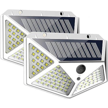 Details about  /5pcs 100 LED Solar Powered PIR Motion Sensor Wall Light Outdoor Garden Lamp 3