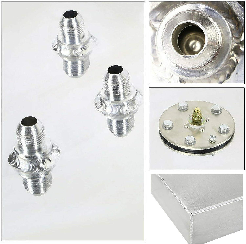 labwork 17 Gallon//64L Street Rod Aluminum Race Fuel Cell Gas Tank w//Cap Level Sender Black