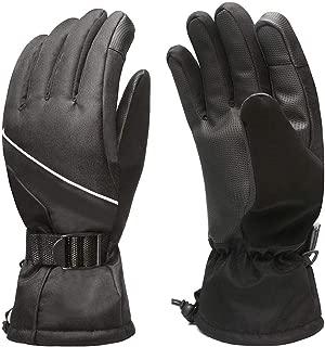 Zaboumi Ski Gloves Men and Women Winter Touch Screen Gloves Windproof Waterproof Outdoor Snow Snowboard Warm Gloves