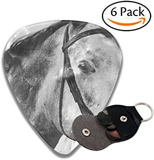 Horse 6 Pack Unique Guitar Gift for Electric Guitar,Acoustic Guitar,Mandolin,and Bass .96mm Celluloid Guitar Picks