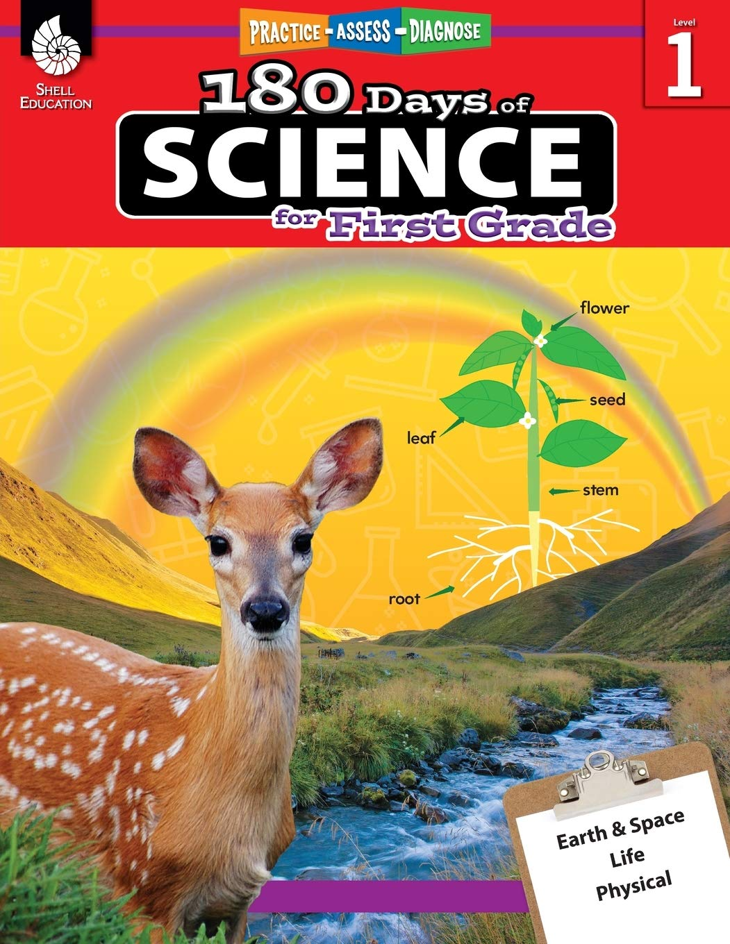 Image Of180 Days Of Science: Grade 1 - Daily Science Workbook For Classroom And Home, Cool And Fun Interactive Practice, Elementar...