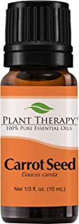 Plant Therapy Carrot Seed Essential Oil 100% Pure, Undiluted, Natural Aromatherapy, Therapeutic Grade 10 mL (1/3 oz)