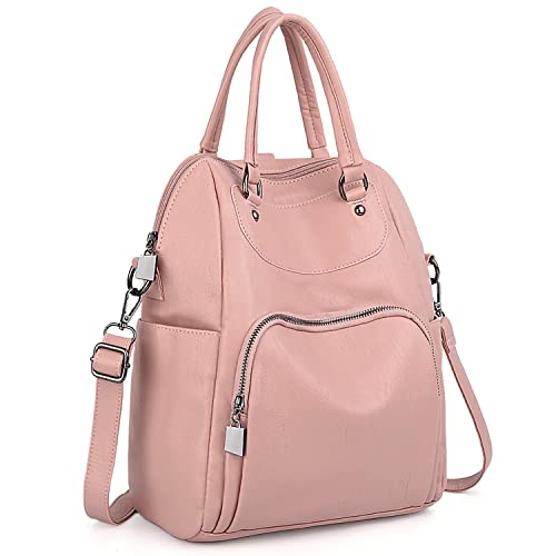 9 INCH PINK BAG WITH ZIPPER AND FRONT FLAP FOR GIRLS AND WOMEN
