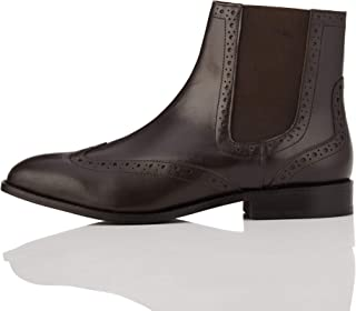 Amazon Brand - find. Women's Leather Brogue Chelsea Boots