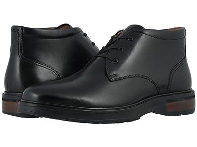 Florsheim Astor Plain Toe Chukka Boot (Black Smooth/Black Sole) Men