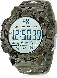 Beeasy Reloj Deportivo Hombre,Relojes Digital Impermeable Watches LCD con Esfera Grande Inteligente Fitness Tracker Contad...