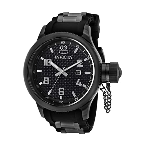 c25fbf46afe Invicta Men s 0555 Russian Diver Collection Black Rubber Watch