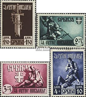 Serbia (German.cast.2.World.) 86-89 (Complete.Issue.) 1943 war invalids (Stamps for Collectors)