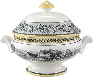 comprar comparacion Villeroy & Boch Audun Ferme Legumbrera, 2 l, Porcelana Premium, Blanco/Gris