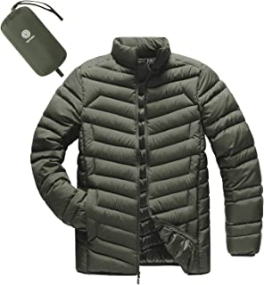 Sponsored Ad - LAPASA Men's Lightweight Packable Down Jacket Breathable Puffy Coat Water-Resistant M32