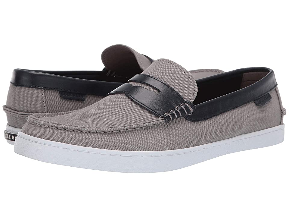 Cole Haan Nantucket Loafer (Gray Canvas/Blue Leather) Men
