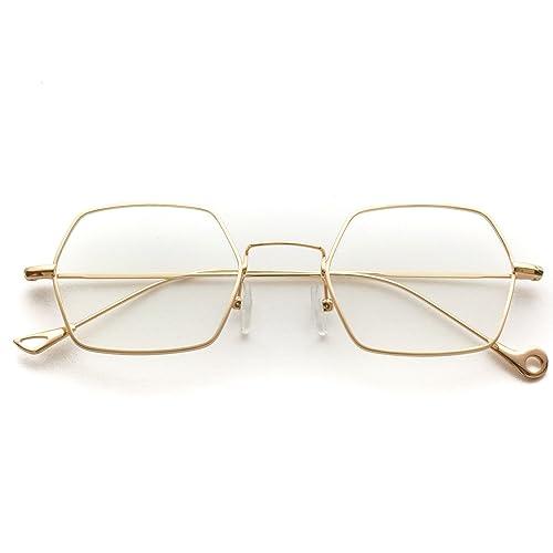 67ca163f53 WearMe Pro - Hexagon Retro Vintage Round Metal Frame New Sunglasses