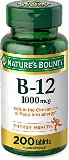 Vitamin B12 by Nature's Bounty, Vitamin Supplement, Supports Energy Metabolism and Nervous System Health, 1000mcg, 200 Tablets