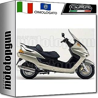 GPR Tubo de Escape Completo Hom 4ROAD Round Yamaha Majesty DX 250 2003 03 2004 04