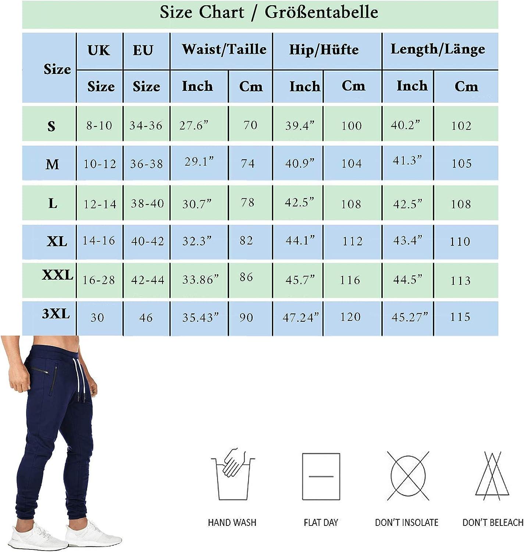 BIFADA Fitness Herren Joggerhose Sporthose Jogginghose Trainingsanzug Casual Slim Fit Bottoms Workout Gym Rei/ßverschlusstaschen