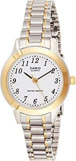 Casio Women's Core LTP1128G-7B Two-Tone Stainless-Steel Quartz Watch with White Dial