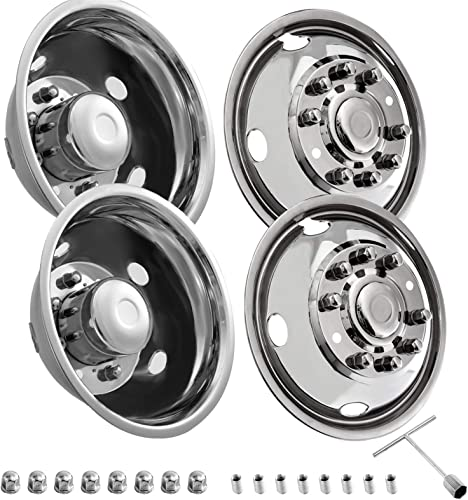 lowest Mophorn Stainless Steel Wheel Simulators Bolt On Hubcap Kit 8.85 Inch of Central high quality Distance Diameter online Wheel Cover For 2003 2004 Ford F450 outlet sale