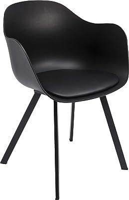 Kare 83864 Brentwood Chaise d'accoudoir Noir Taille Unique