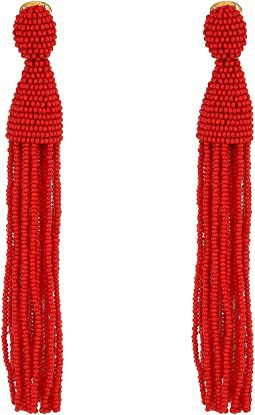Oscar de la Renta - Long Beaded Tassel C Earrings