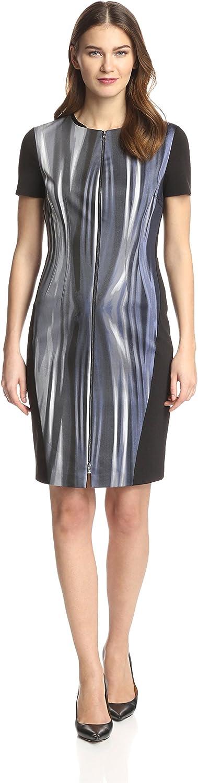 T Tahari Kaylee Metal Wire Blue Dress