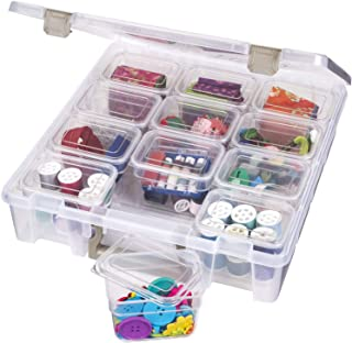 ArtBin Super Satchel Art & Craft Supply Storage Organizer with 12 Bins Inside Clear,..