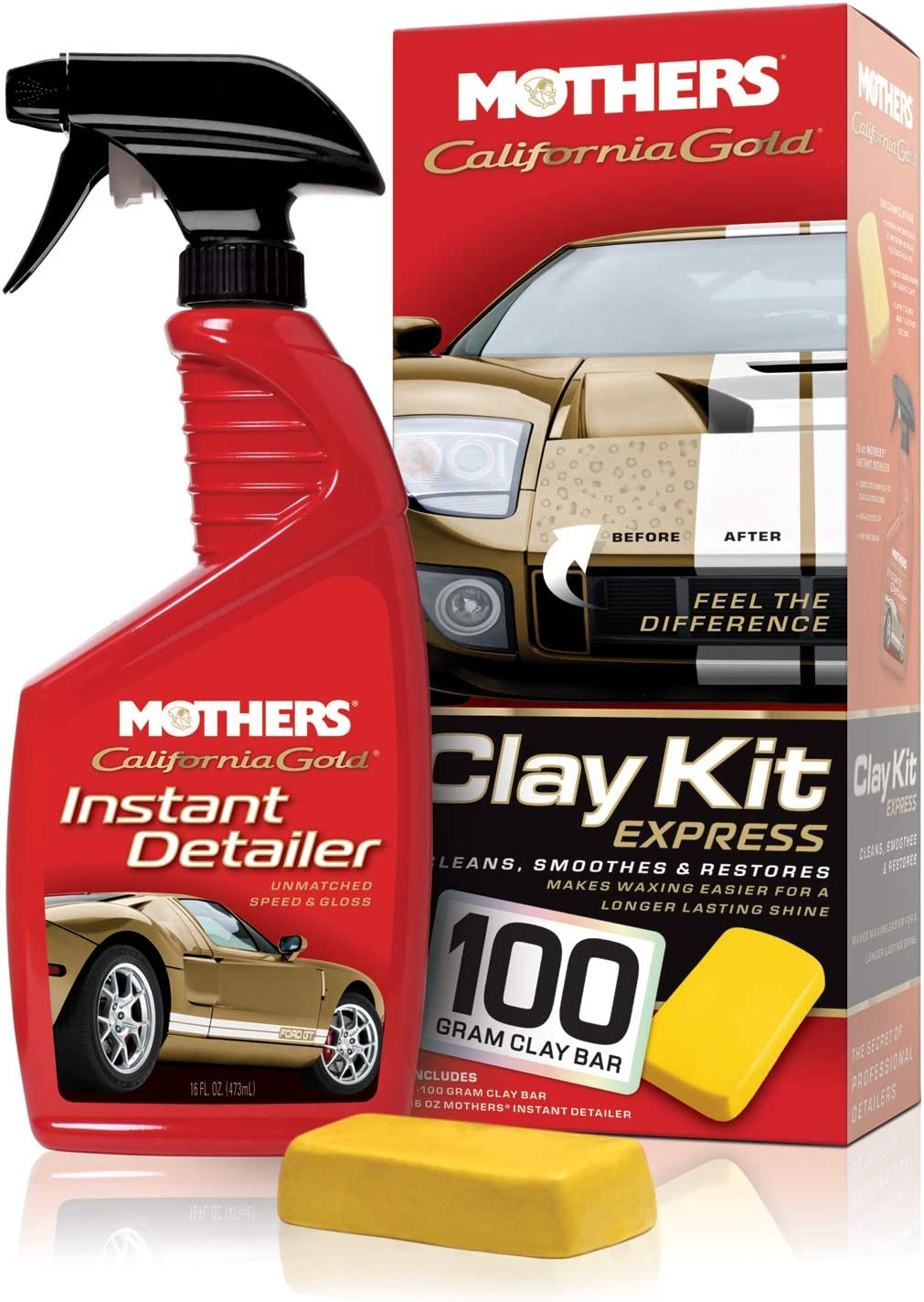 Mothers 07240 California Gold Clay Bar System: Automotive