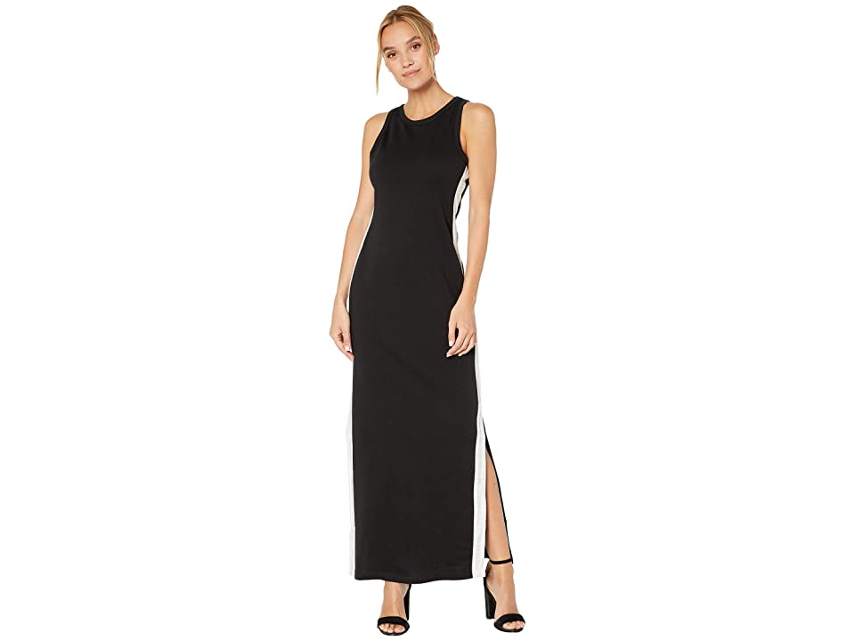 Bebe Logo Tape Long Dress (Jet Black) Women