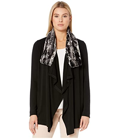 Karen Kane Faux Fur Collar Jacket (Black) Women