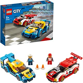 LEGO 60256 City LesVoituresdeCourse, Jouet avec 2 Figurines de Pilotes de Course, véhicules de Rallye pour Enfants de 5...