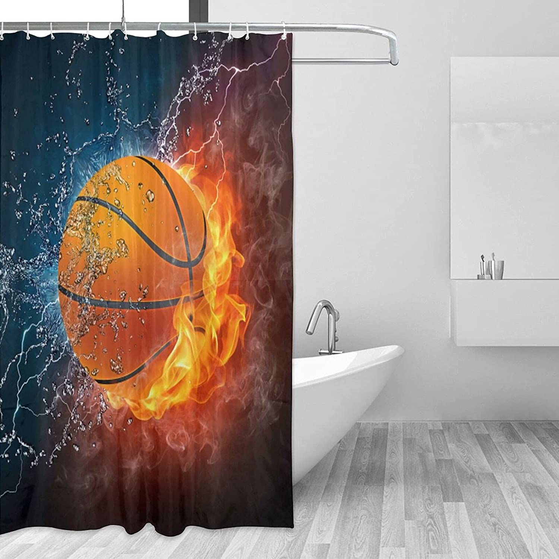Basketball Bathroom Shower Curtain Jacksonville Mall with Waterpr mart X 72