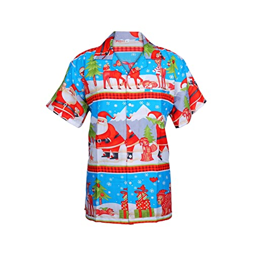 39033f36 KIKLO Mens Christmas Santa Xmas Hawaiian Shirt Hawaii Gift HIM Party  Holiday S to XXL