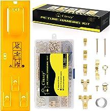 Foto Opknoping Tool met Niveau Gemakkelijk Frame Foto Hanger Muur Opknoping Kit (Geel Kit)