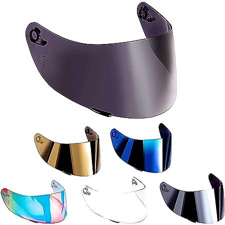 Visera AGV compatible para casco AGV K3, SV K1, K5, K5-SV, K5S, Horizon, Skyline, Strada, Numo GT-2, apto para tallas XXS, XS, S, MS, M, ML, L, XL, XXL. talla única Oro Specchio