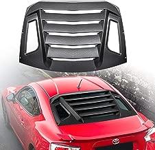 Danti Fits Toyota 86 Scion FR-S Subaru BRZ Rear Window Louver Rain Sun Guard Wind Deflector Rear Window Louvers 2013-2019
