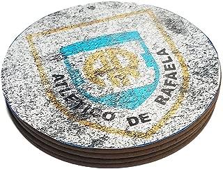 Azty Designs Four Round Coasters Glossy Custom Paint Effect Argentina Futbol Soccer League