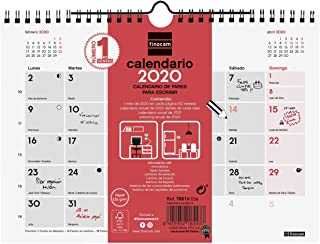 Finocam - Calendario de pared 2020 Escribir español