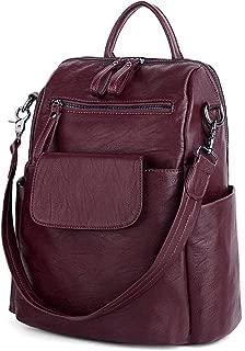 UTO Women's 3 Ways PU Leather Casual Backpack Shoulder Bag Handbag Totes with Anti Theft Pocket Detachable Shoulder Strap