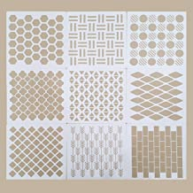 CDIYTOOL 9 Pack Geometrische Stencils Herbruikbare Kunst Templates voor Schilderen op Muren Canvas Houten Meubilair Templa...