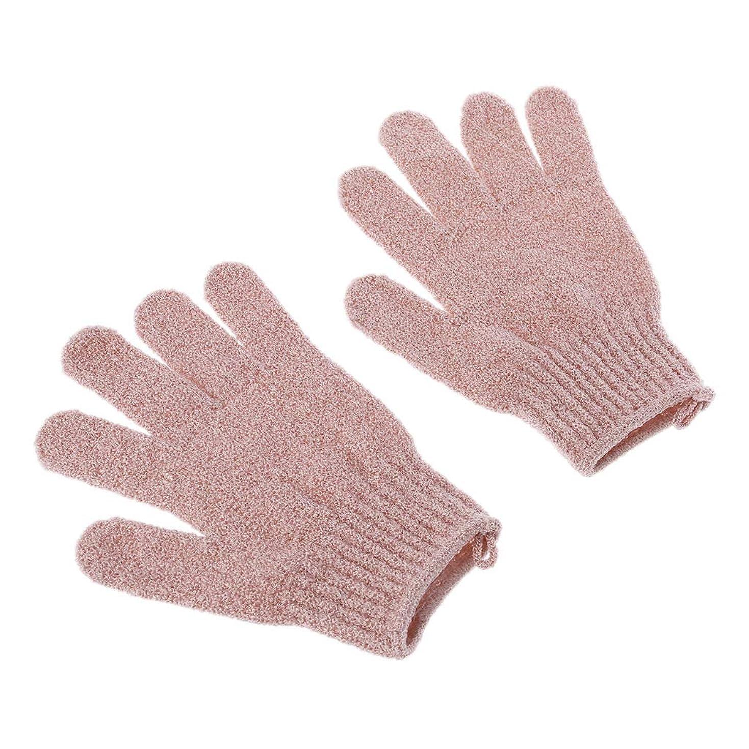 カートン自治ハンカチより青い2部分の浴室の手袋のシャワーセット、ボディスクラバーの角質除去のための角質除去の手袋