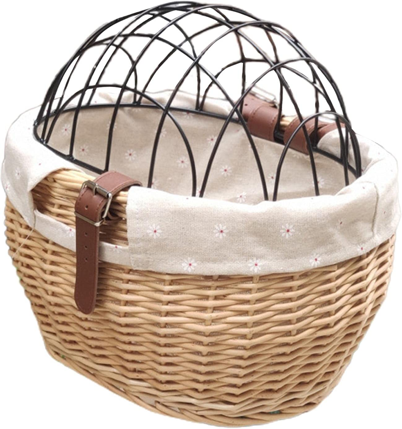 Limited price sale OFFicial shop Shiker Bicycle Basket with Wire Mesh Cover Wicker f Bike