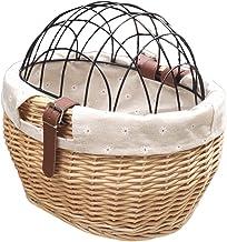 Fiets Voormand voor huisdier,Rieten fietsmand fiets Front Pet Safety Basket voor kleine honden Katten Pet Fiets Carrier Ma...